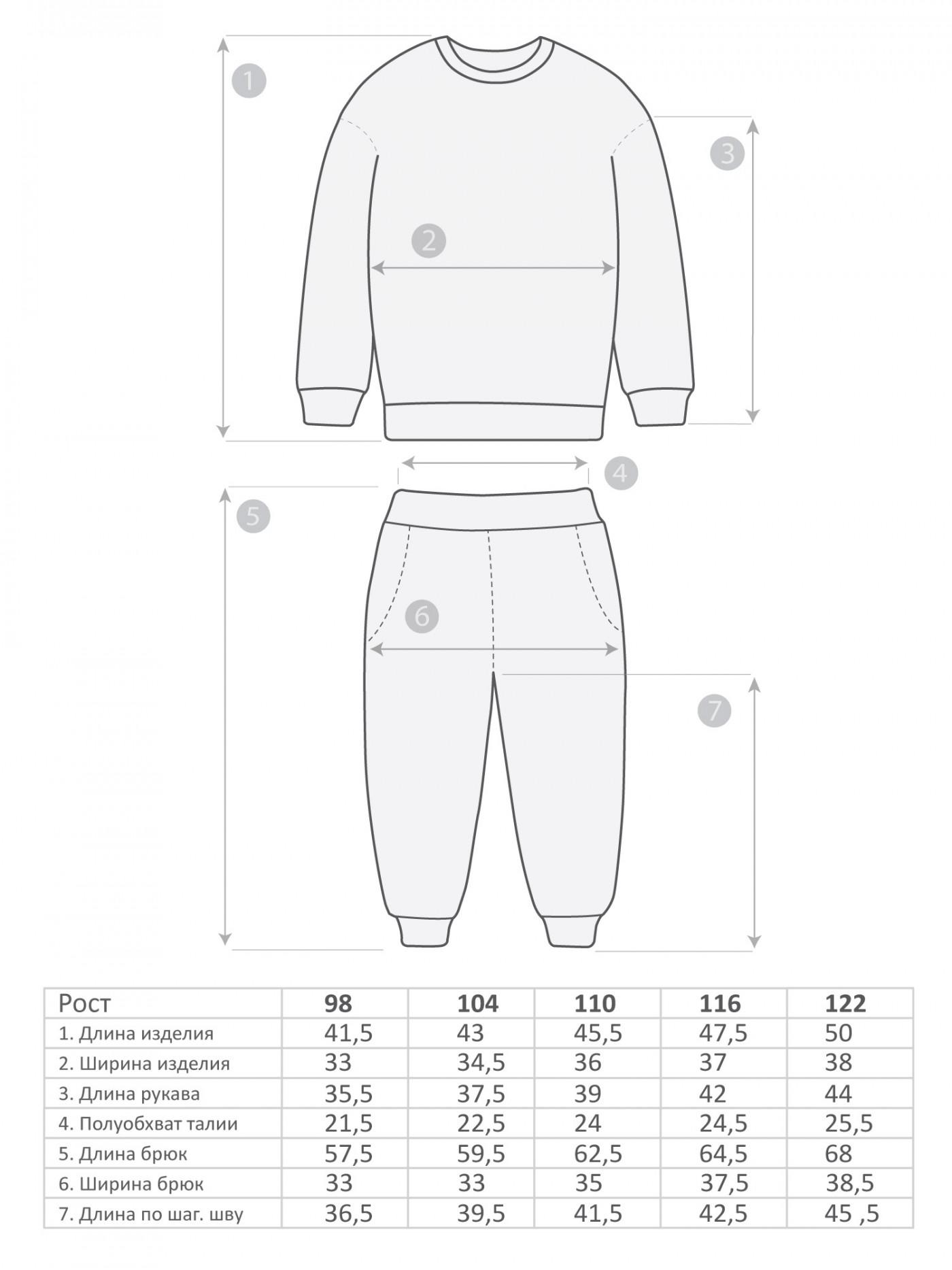 М-569 Пижама 98-122 5шт