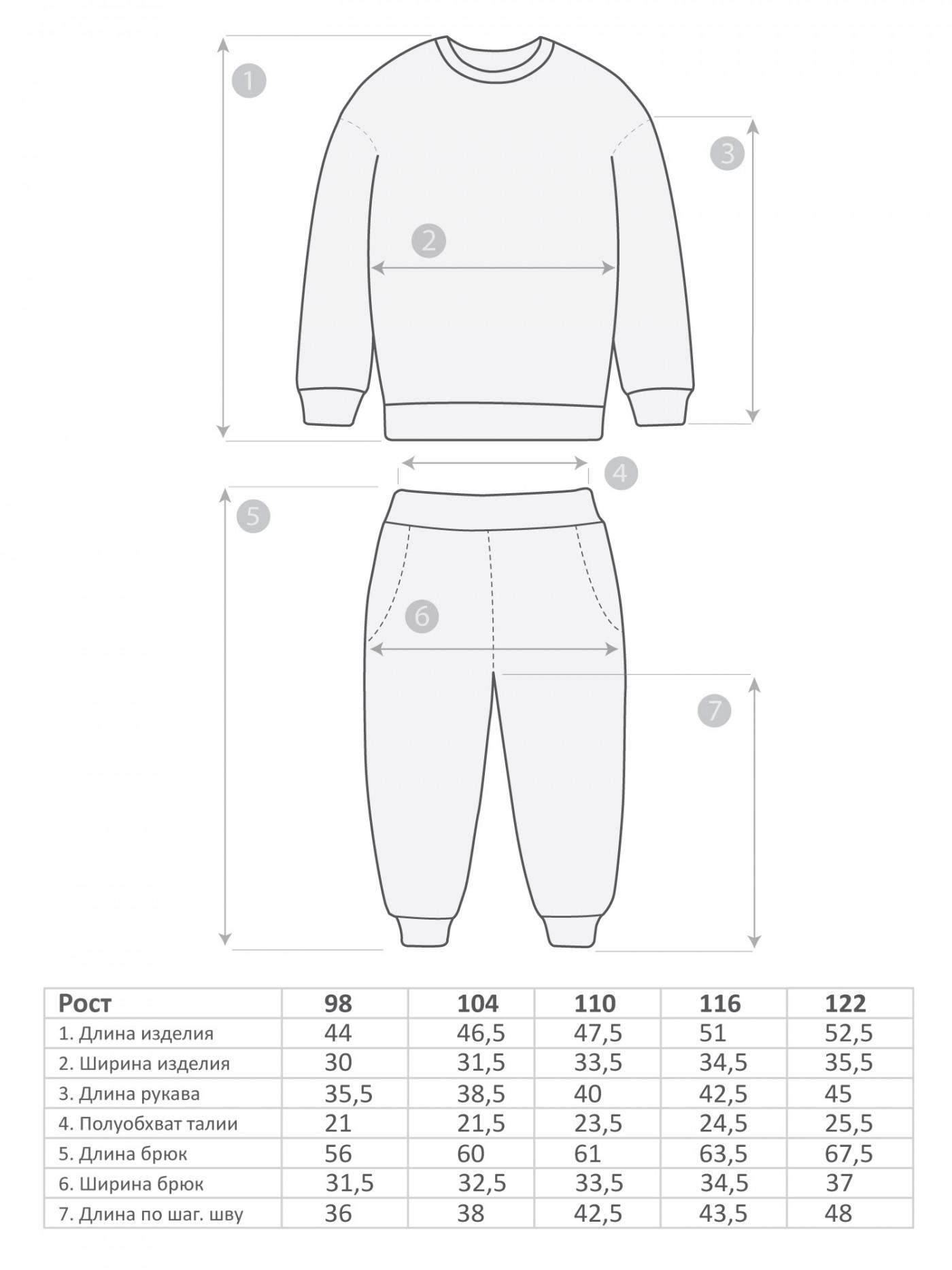 М-581 Пижама 98-122 5шт