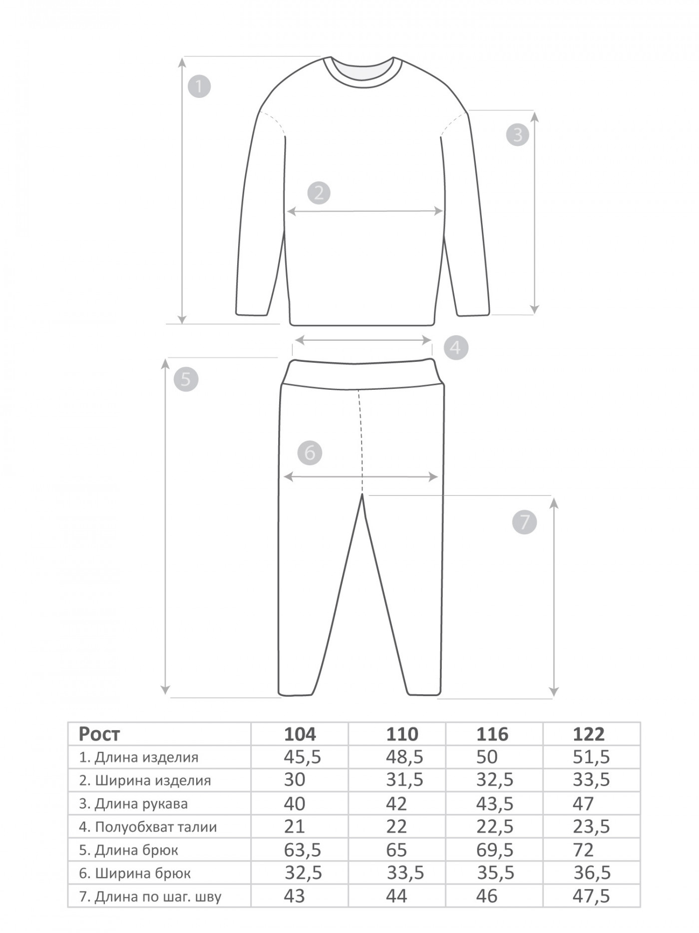 М-574 Пижама 104-122 4шт